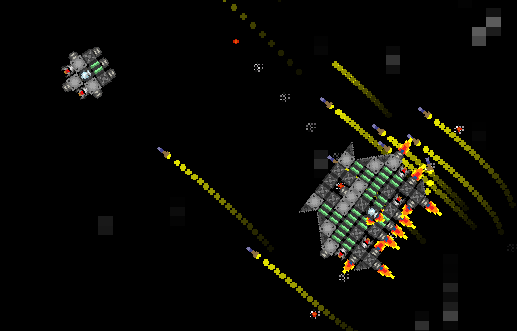 SpaceBeam : With trails, you can feel projectiles !