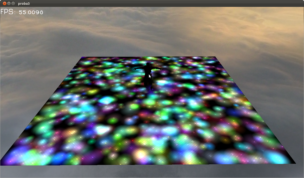 An old screenshot from Linux Game Engine showcasing Tiled Deferred Shading