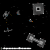 Spaceship pixel art, bullets & ship design